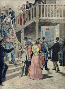 The Arrest of Prostitutes in Parisian Hotels by Henri Meyer