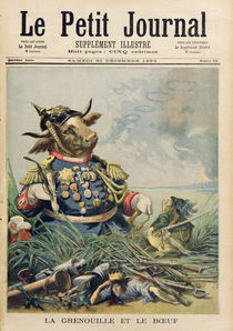 The Frog and the Ox, illustration from 'Le Petit Journal' von French School