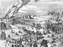 General view of the battle of Muhlberg von German School