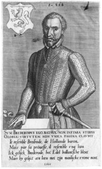 Portrait of Count Henry of Brederode 1566 by Flemish School