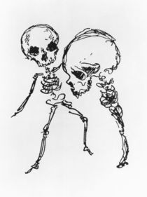 Skeletons, illustration from 'Complainte de l'Oubli et des Morts' by Jules Laforgue