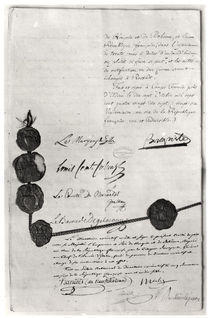 The Treaty of Campo Formio von French School