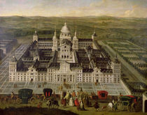 View of El Escorial by Spanish School