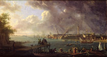 View of the Port of Lorient by Jean-Francois Hue
