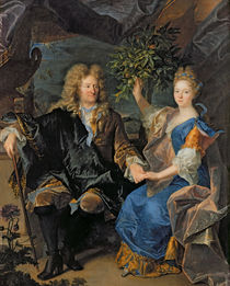 Count Jan-Andrezj Morszstyn and his Daughter by Hyacinthe Francois Rigaud
