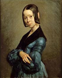 Pauline Ono in Blue, 1841-42 by Jean-Francois Millet