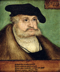Portrait of Friedrich III Elector of Saxony by Lucas, the Elder Cranach
