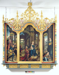 Triptych of the Adoration of the Infant Christ by Jean the Elder Bellegambe