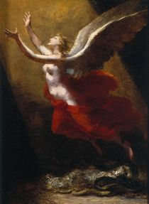 Study for The Soul Breaking Links with the Earth von Pierre-Paul Prud'hon