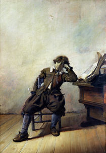 A Young Student in his Study or by Pieter Codde