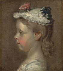 Study of a Girl's Head, c.1740-50 by William Hogarth