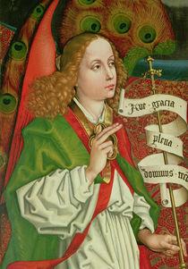 Detail of the Archangel Gabriel by Martin Schongauer