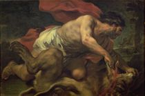 Samson and the Lion by Luca Giordano