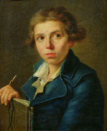 Portrait of Jacques-Louis David as a Youth von Joseph-Marie, the Elder Vien