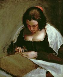 The Needlewoman, c.1640-50 von Diego Rodriguez de Silva y Velazquez