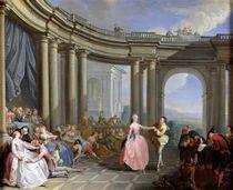 The Minuet by Jacques Sebastien Le Clerc