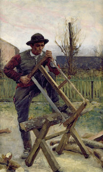 An Aragonese Woodcutter, 1876 by Louis Capdevielle