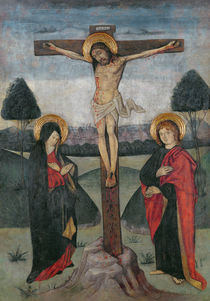 Christ on the Cross between the Virgin and St. John by Spanish School