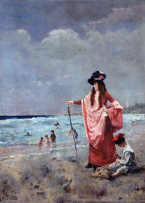 On the Beach by Alfred Emile Stevens