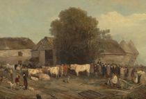 The Farm Sale, 1820 von Richard Barrett Davis
