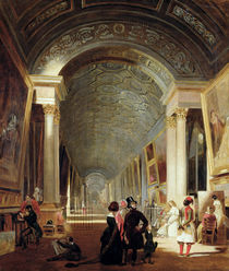 View of the Grande Galerie of the Louvre von Patrick Allan-Fraser