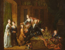Portrait of Nicolas de Launay and his Family by Robert Tournieres