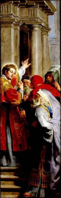St. Stephen Preaching, from the Triptych of St. Stephen von Peter Paul Rubens