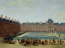 The Place Royale with the Royal Carriage by French School