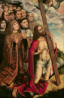 Christ the Mediator with Philip the Handsome and his Entourage von Colijn de Coter