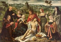 The Lamentation of Christ, central panel from an altarpiece von Joos van Cleve