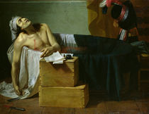 The Death of Marat, 1793 von Joseph Roques