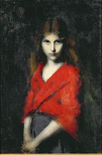 Portrait of a Young Girl, The Shiverer von Jean-Jacques Henner