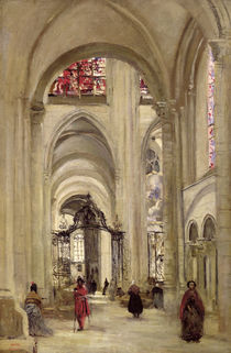 Interior of the Cathedral of St. Etienne von Jean Baptiste Camille Corot