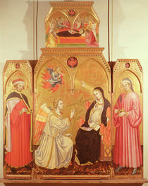 The Annunciation with St. Cosmas and St. Damian by Taddeo di Bartolo