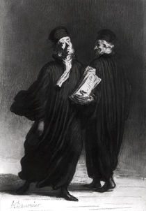 Two Lawyers, c.1862 by Honore Daumier