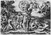 The Judgement of Paris von Marcantonio Raimondi