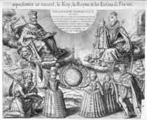 Henri IV with his Family, 1607 by French School