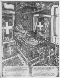 Henri IV on his deathbed, 1610 by French School