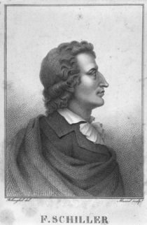 Friedrich Schiller engraved by Massol by Theophile Behaeghel