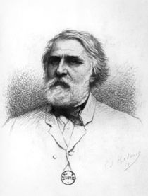 Portrait of Ivan Turgenev by Pierre Edmond Alexandre Hedouin