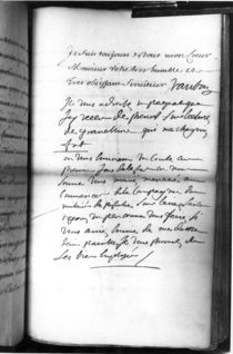 Post-scriptum autograph after a report dated from Brest von Sebastien Le Prestre de Vauban