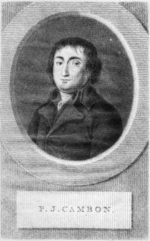 Portrait of Pierre Joseph Cambon von Lambertus Antonius Claessens