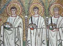Procession of the Martyrs, 527-99 von Byzantine School