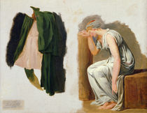A green toga and Camille, study for 'The Oath of the Horatii' by Jacques Louis David