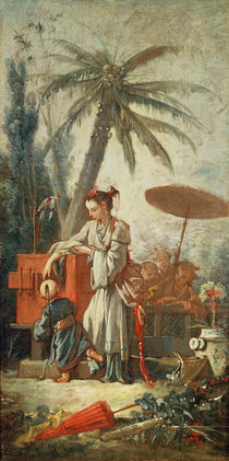 Chinese Curiosity, study for a tapestry cartoon von Francois Boucher