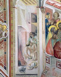 The Last Supper, detail of the hearth von Ambrogio Lorenzetti