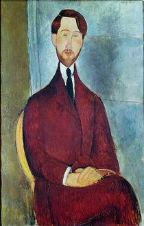 Leopold Zborowski, 1917 by Amedeo Modigliani