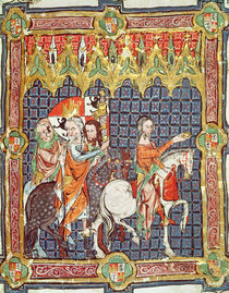 Fol.10r Alfonso VII and his wife von Spanish School