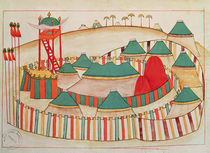 Ms 1671 The Imperial Camp, c.1580 by Islamic School