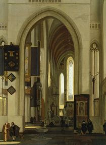 Interior of a Church with Figures by Emanuel de Witte